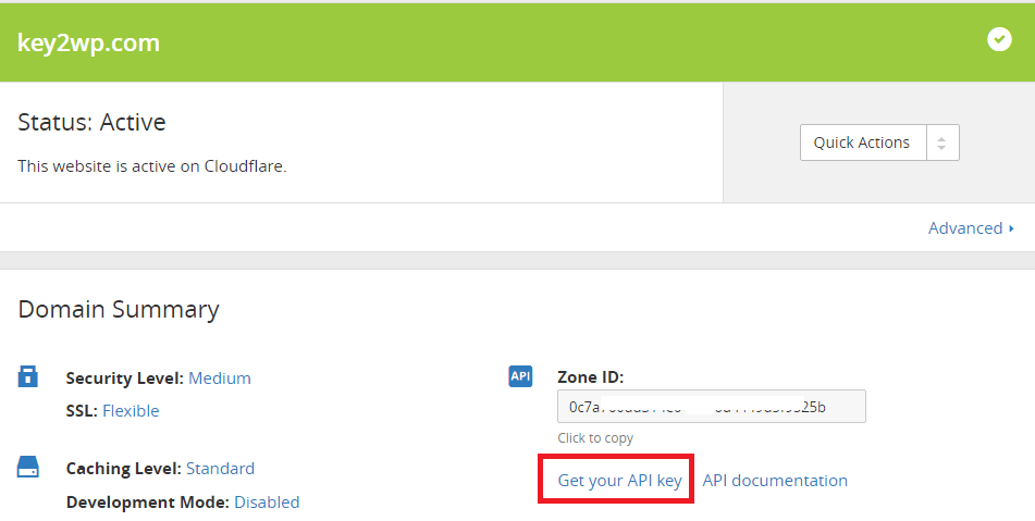 Here is get your API key link